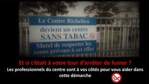 Croix Rouge, Centre Le Richelieu deviens un centre anti-tabac